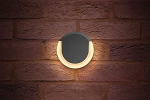 Lunox Wall Light 8W 3000K 380lm IP54 grafit
